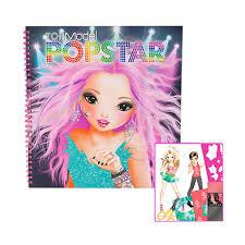 Coloring Book Rp Jual Topmodel Popstar Black Buku Mewarnai Online