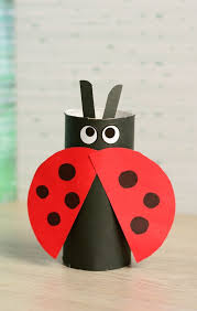 Toilet Paper Roll Ladybug Craft