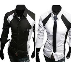 2018 Wholesale 2015 New Top Design Fashion MenS Clothing Luxury Stylish Slim Long Sleeve Casual Shirt Men Mens Dress Shirts Black White From Tayler