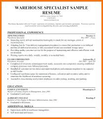 Warehouse Assistant Manager Resume Sample Enchanting For In Wareho
