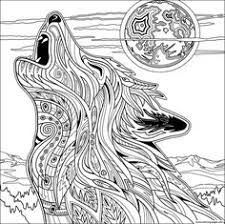 Print Wolf For Adult Coloring Pages