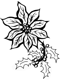 Poinsettia5 Holidays Coloring Pages