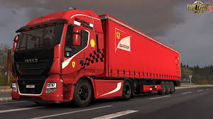 100 Ferrari Truck Iveco HiWay Scuderia Combo Pack By L1zzy ETS2 Mods SCS