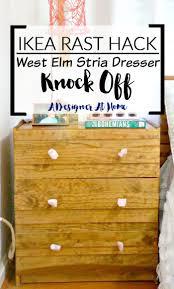 Tarva 6 Drawer Dresser by How I Made It Ikea Rast Hack To West Elm Stria Knock Off A