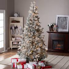75 Pre Lit Flocked Christmas Tree by 73 Top 10 Foot Christmas Tree Home Design Stand Trees Clearance