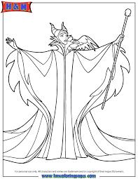 Walt Disney Sleeping Beauty Villain Maleficent Coloring Page