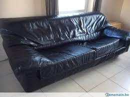 canapé cuir noir 3 places fauteuil canapé cuir noir 3 places gratuit 2ememain be
