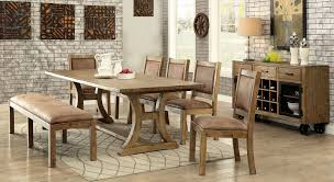 6 Piece Rustic Style Dining Set By Furniture Of America CM3829