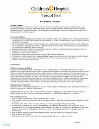 Respiratory Therapist Resume Examples Sample Objectives For New