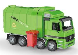 100 Garbage Truck Kids Friction Powered Recycling With Side Loading And Back