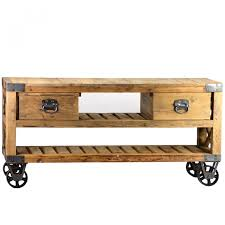 French Rustic Industrial Style Plasma TV Stand 139000 Thebellacottage Industrialchic Wood