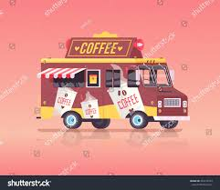 100 Coffee Truck Vector Colorful Flat Vintage Stock Vector Royalty Free