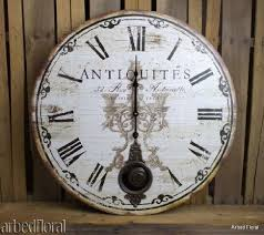 Buy 23 Large Antiquites Wall Clock Beige Brown French Themed W Pendulum In Cheap Price On Alibaba