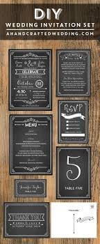 Picture Of Chalkboard Wedding Invitation Template Free