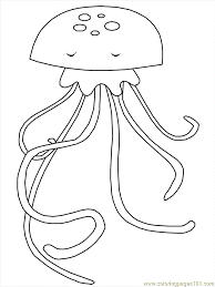 Ocean Jellyfish Coloring Page