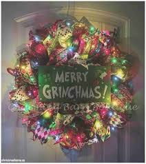 Grinch Outdoor Christmas Decorations by Christmas Therinch Christmas Decorations Outdoor Awesome Wreath