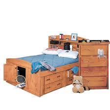 Cinnamon Rustic Twin Storage Bed Palomino