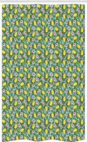 abakuhaus duschvorhang badezimmer deko set aus stoff mit haken breite 120 cm höhe 180 cm ananas hawaii natur hibiscus kaufen otto