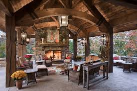 outstanding rustic outdoor lighting image ideas with large pendant