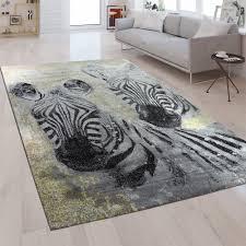 design teppich wohnzimmer zebra motiv