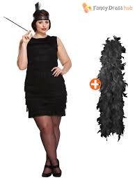 ladies 1920s flapper costume womens gangster fancy dress plus size