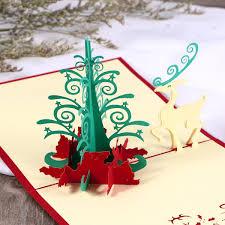 3D Pop Up Cards Invitations Christmas Xmas Tree Greeting Birthday