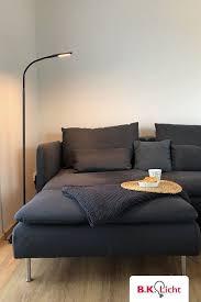 led design stehleuchte dimmbar schwenkbar schwarz bk licht