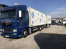 100 Tandem Truck MAN TGX 26440 6x2 EEV Tandem Przejazdowy Refrigerated Trucks For