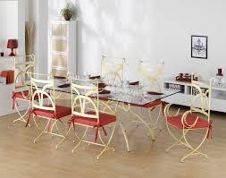 salon de jardin ensemble table et chaises en fer forgé pompadour