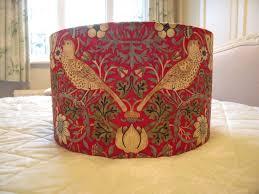 Handmade Drum Lampshade William Morris Strawberry Thief Fabric 40cm In Home Furniture DIY