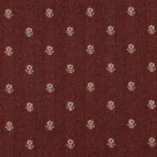Designer Fabrics 54 In Wide Rustic Red And Beige Flowers Country Style Upholstery Fabric As Shown