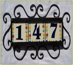 ceramic tile house numbers frame home design ideas