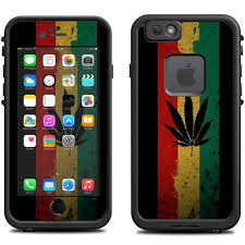 Skin Decal for Lifeproof iPhone 6 Fre Case Rasta Weed Pot Leaf