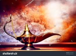 antique artisanal aladdin arabian nights genie stock photo