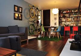 Young Couples Apartment Trendy Loft Living Room
