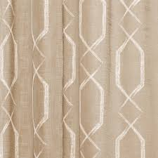Geometric Pattern Sheer Curtains by Taupe Linen Textured Sheer Fabric Shower Curtain White Geometric