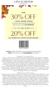 A Pea In The Pod Coupons - 20-30% Off At A Pea In The