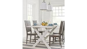 village grigio wood dining chair crate and barrel