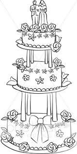 Three Tier Wedding Cake Clipart