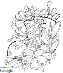 Modern Tattoos Adult Coloring Pages Books Colouring Copic Tattoo Designs Doodle Flowers Flower Baskets