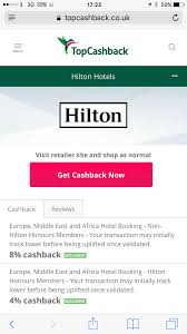 Hilton Hhonors Diamond Desk Uk by Hilton Cashback In The Uk Tcb And Quidco Page 6 Flyertalk Forums