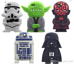 3D Cartoon Star Wars Character Silicone Case Master Yoda Darth