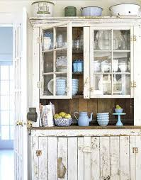 White Rustic Kitchen Cabinets Shabby Chic Ideas Decor And Furniture For Kitchens Distressed