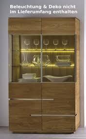 highboard vitrine vitrinenschrank wohnzimmer asteiche eiche