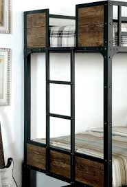 Woodcrest Bunk Beds by Furniture Of America Industrial Metal Wood Full Over Full Bunk Bed