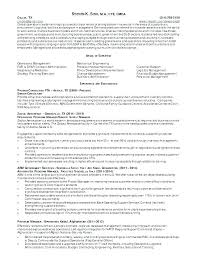 Sample Of General Resume Contractor Unique Project Manager
