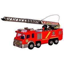 Amazon.com: Fire Truck Toy Rescue With Shooting Water, Lights And ...