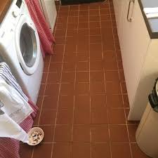 kitchen quarry tiles floor treated to a clean and seal in