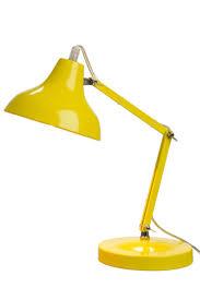 le de bureau jaune le de bureau moderne en métal jaune 15x26cm j line j line by jol