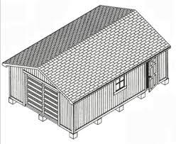 16x20 Gambrel Shed Plans by Backyard 16x20 Shed Plans